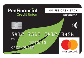 PenFinancial No Fee Cash Back Business Mastercard