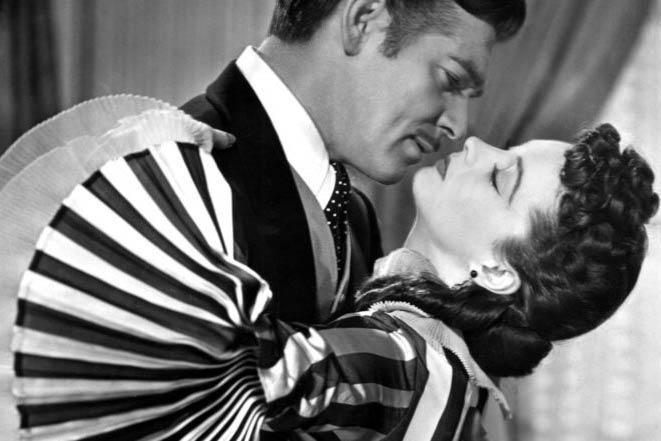 Gone with the Wind Scarlett O'Hara and Rhett Butler embrace